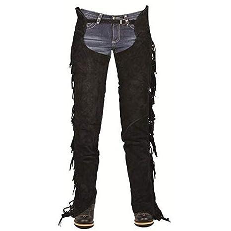 Pantaloni Unisex Adulto HKM Sports Equipment Showchaps mit Fransen2200