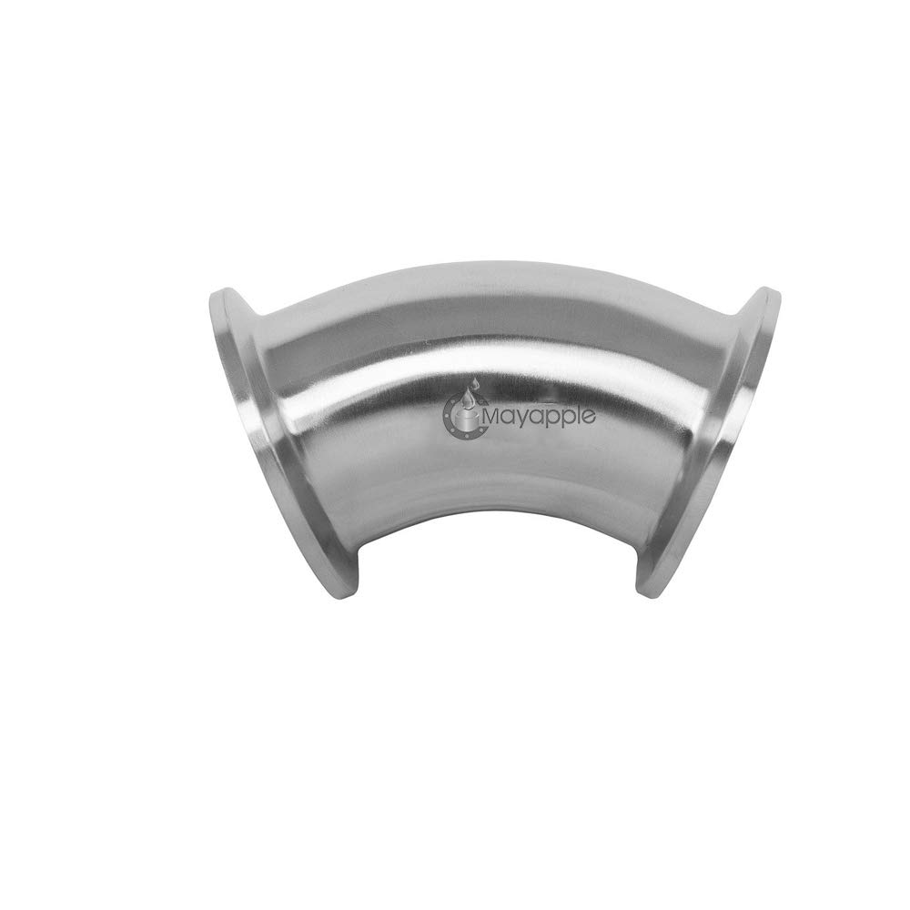 6'' Stainless Steel 45 Degree Elbow, Sanitary Fitting,3A Standard, 316L, Tri-Clamp