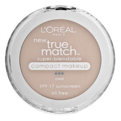 - L'Oreal Paris True Match Super-Blendable Compact Makeup, Spf 17, Natural Ivory, 0.30 Ounce, 2 Ea (Pack of 2)