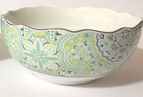 Lyria Teal by 222 Fifth, PTS International, China Soup/Cereal Bowl ()