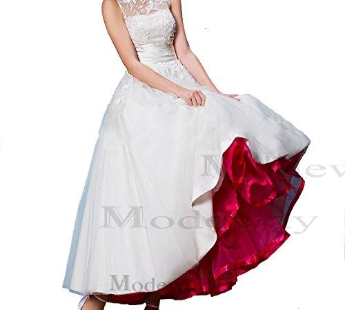 Modeway Women's Ankle Length Petticoat Wedding Dress,Slip (XS-L, (Wedding Dress Lingerie)