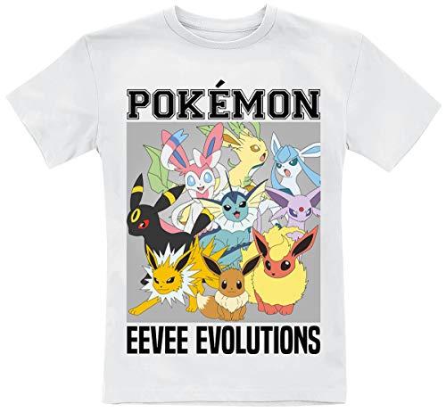 Pokémon Eevee Evolutions T-shirt wit Animatie, Anime, Fan merch, Film, Gaming, Nintendo, TV-series