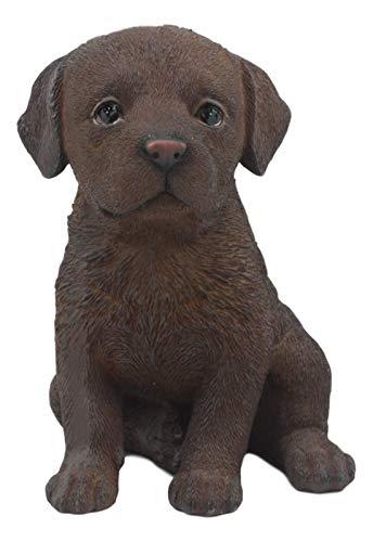 K&N35 Indoor Collectible Sculpture Décor Pet Chocolate Labrador Retriever Puppy Animal Ornament Art Deco Statue Home Figurine Decor