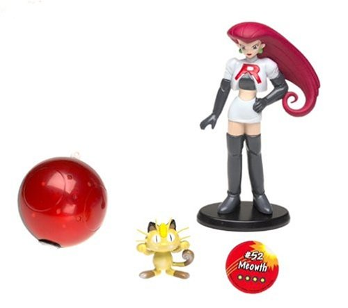 Hasbro Return - Pokemon Trainer Figure: Jesse with Meowth #52 -
