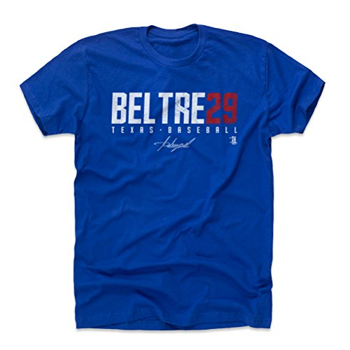 500 LEVEL Adrian Beltre Cotton Shirt Large Royal Blue - Texas Baseball Men's Apparel - Adrian Beltre Beltre29 W WHT