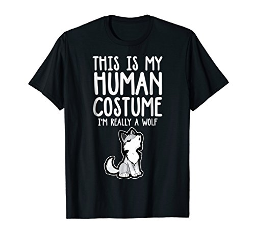 This My Human Costume I'm A Wolf Funny Group Costume T-Shirt ()