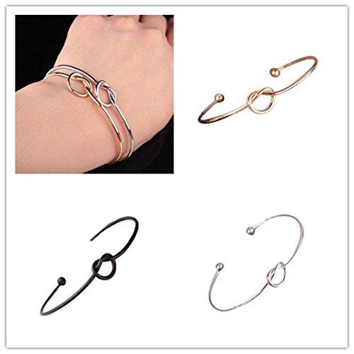 Bangle Bracelet for Women Girl Cuff Bracelets Chic Fashion Simple Knot Bangle Cuff Opening Bracelet Copper Casting Jewelry Gift Best Friend Hot Popular