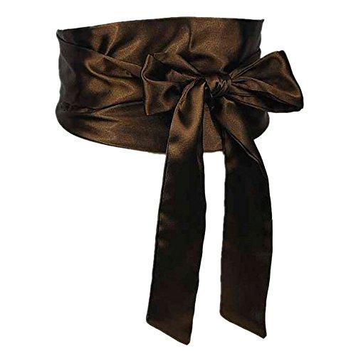 NormCorer Wedding Bridal Double Layer Artificial Silk Sash Belt Bowknot (92.52