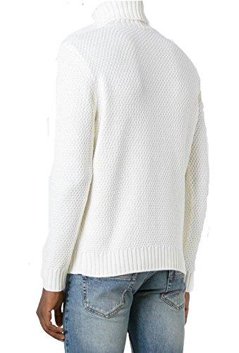 Eleventy Herren 979MA0121MAG2200500 Weiss Wolle Sweater