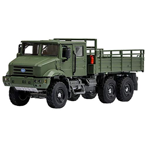 Chercherr New Simulation Off-Road Car, Cool 1:36 Alloy Tactical Truck Off-Road Metal Frame Cars Model Electronic Toy Gift for Children Birthday ()