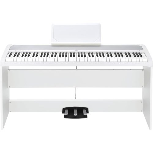 Korg B1SP 88 Keys Digital Piano with Stand and 3-Pedal Unit White by Korg