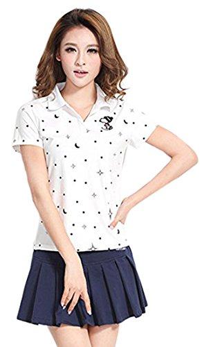 (アイユウガ)I-YUUGA レディース ゴルフウェア スポーツウェア  テニスウェア 上下セット ポロシャツ スカートセット 運動着 ジャージセット シンプル 学生 カジュアル