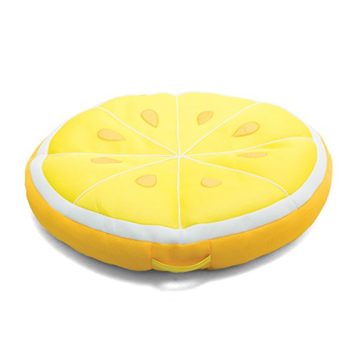 Big Joe Lemon Fruit Slice Pool Float, Yellow