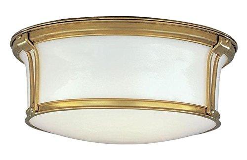 Aged Brass Newport 3 Light Flush Mount Ceiling Fixture