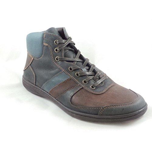 Softwalk Herren Marineblau und braun Leder Schnürschuh Casual Stiefel