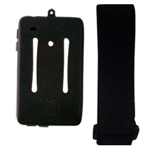 iShoppingdeals - Black Silicone Skin Case w/Armband for Iriver Clix2 2nd Generation