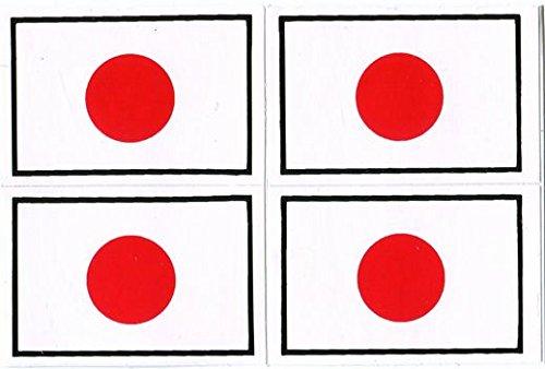 Flag Japan Japanese flag sticker quad seal waterproof paper suitcase PC dress up (japan import)