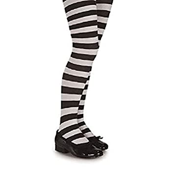 6074e118636e4 Childrens Kids Alice in Wonderland Tights Black White Striped 6-12 Years:  Amazon.co.uk: Toys & Games