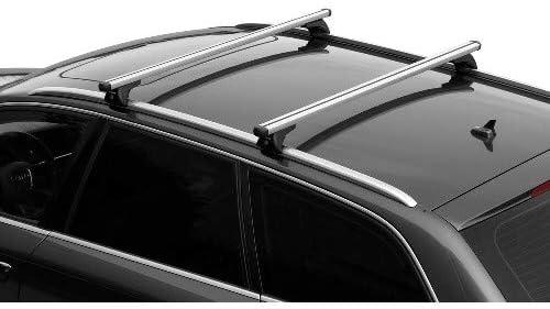 COMPATIBILE CON Volvo XC40 10//17 BARRE PORTATUTTO PER TETTO AUTO 120CM BARRA PER AUTO CON RAILING BASSI ATTACCATI AL TETTO PORTABAGAGLI ALLUMINIO 90KG OMOLOGATE