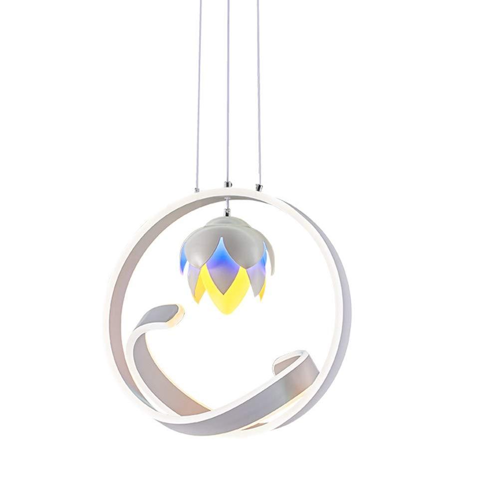 H.Q ホームデコレーションシャンデリアシングルヘッドパーソナリティハングランプシンプルな錬鉄製の照明器具はボタン型シーリングライトを導きました   B07TRD1FBP