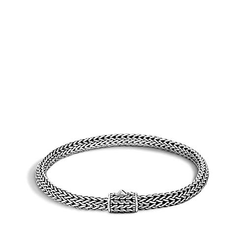 John Hardy Women's Classic Chain Silver Extra-Small Bracelet, Size M