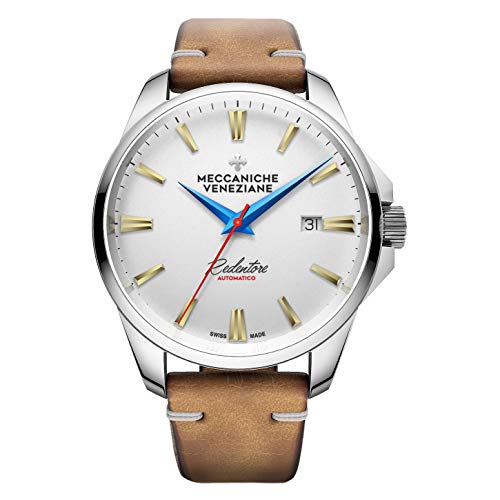 Meccaniche Veneziane Automatic Watch Burano Limited Edition 1201007 with Leather Strap Swiss - Incabloc Swiss