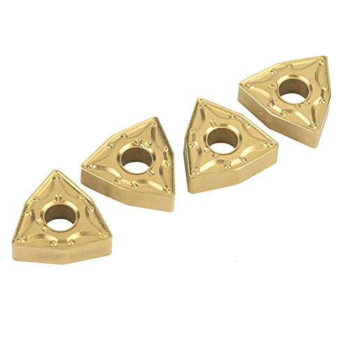 Hartmetalleinsatzklinge, 10 STÜCKE WNMG 432/WNMG0804 Langlebiges, hochdichtes, beschichtetes Hartmetalleinsatz-CNC-Einsatzdrehwerkzeug zum Fräsen von Holzkunststoff