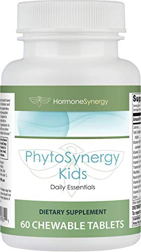 PhytoSynergy Kids Multi | 60 Chewable Tablets | Vitamins and Minerals Enhanced w/bioactive Plant compounds | Including Tomatoes, Carrots, Broccoli, Brussel Sprouts, Spinach, Kale and (Broccoli Sprouts 60 Tabs)