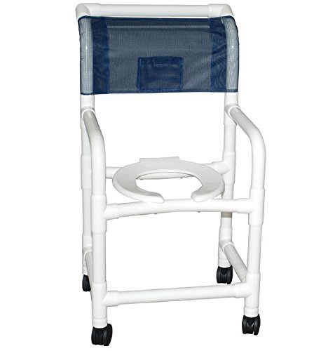 MJM 118-3TW-SL-SF Standard Shower Chair with Sling Seat a...