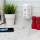 GE 4 Outlet, 4 USB Surge Protector Wall Outlet
