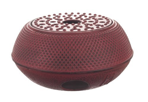 M.V. Trading T-7048 Large Cast Iron Tetsubin Teapot Warmer Arr, Red (Tetsubin Cast Iron)