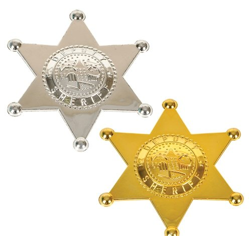 2.5'' PLASTIC SHERIFF BADGE, Case of 2880