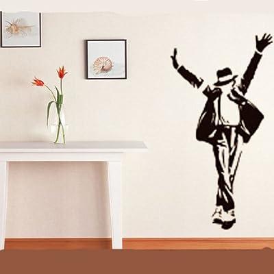 Zooyoo® Wholesale Flowers Trees Animals Wall Sticker Decals Kids Nursery Children Bedroom Living Room Decor Removable PVC Mural (90*60CM MICHAEL JACKSON)