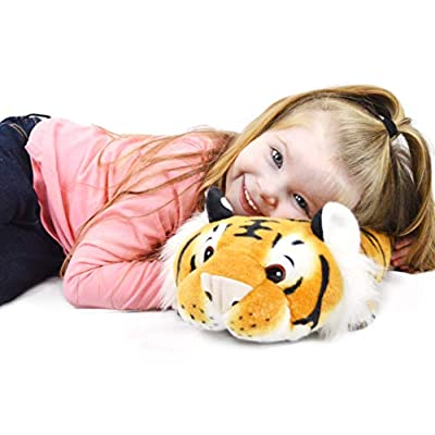VIAHART Terrence The Sleepy Tiger | 16 Inch Large Plush Pillow | Soft and Fluffy Cushion Stuffed Animal Pet | by Tiger Tale Toys: Toys & Games