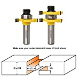 Valiant Tongue & Groove Router Bit Set With