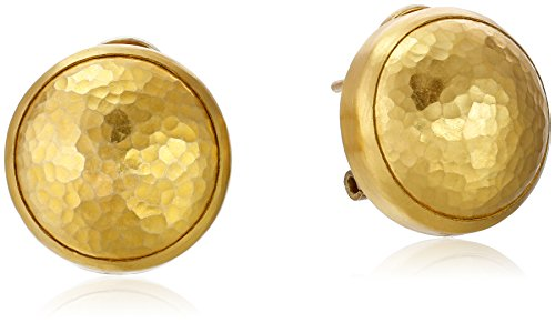 GURHAN Amulet Yellow Gold Button Earrings