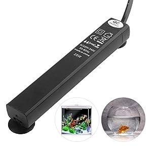 JunBo Mini Aquarium Heater Submersible Heater for Small & Mini Fish Tank Under 10 Gallon, Intelligent Constant Temperature, Overheat Protection System, 25 Watt (US Standard Plug) 43