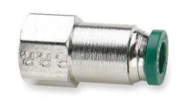 Nickel Plated Brass 3//8 Push-to-Connect Tube x 1//4 Female NPTF 3//8 Push-to-Connect Tube x 1//4 Female NPTF Parker Hannifin Corporation Pack of 5 Pack of 5 Parker Hannifin 66PLP-6-4-pk5 Prestolok PLP Female Connector Push-to-Connect Fitting