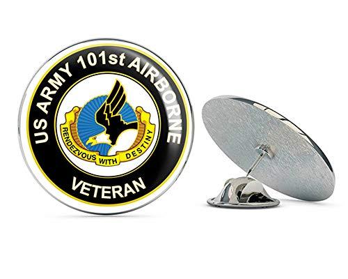 U.S. Army Veteran 101st Airborne Unit Crest Metal 0.75