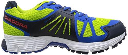 DIADORA ZAPATILLAS DE RUNNING M-N- 4100-1-PATRIOT BLUE GREEN FLUO// PALACE BLUE
