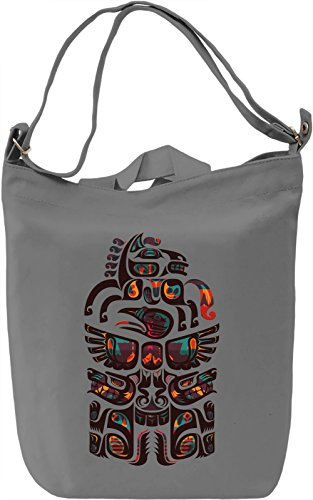 Ethnic Creature Borsa Giornaliera Canvas Canvas Day Bag| 100% Premium Cotton Canvas| DTG Printing|