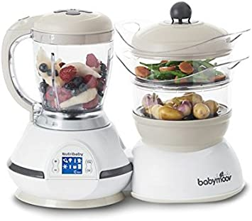 cocci/ón al vapor y batidora color gris Procesador de alimentos para beb/és A001124 Babymoov Nutribaby