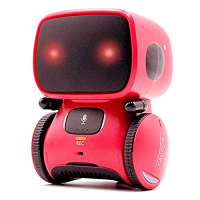 GMAXT Robot Toy R12 Voice Control Robot Toys, Robot Kids with LED Lighting, Voice and Touch Control,Recording Function,Repeat Function,Play Music,Dancing, Good Partner for Children to Grow Up