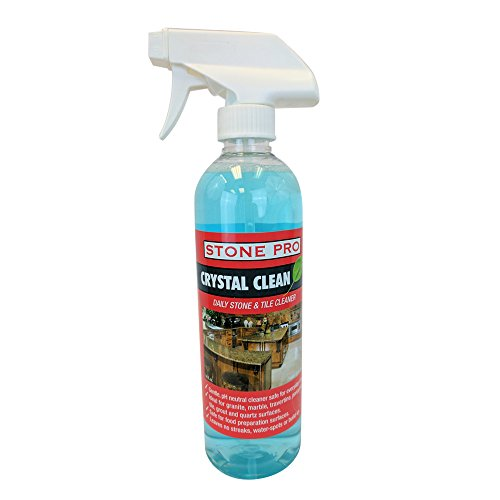 Stone Pro Crystal Clean - Daily Stone and Tile Cleaner - Ready To Use (RTU)  - 16 oz. (16 Porcelain Tile)
