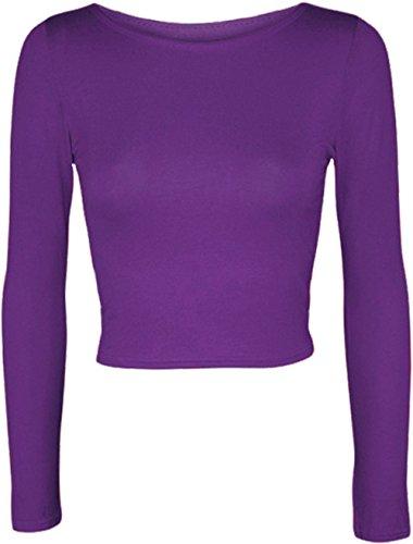 Friendztrendz -  Maglia a manica lunga  - Donna Purple Medium / Large