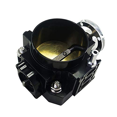 Throttle Body, Throttle Body for RSX DC5 CIVIC SI EP3 K20 K20A 70MM CNC Intake Throttle Body Performance,Black:
