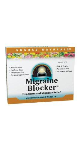 Source Naturals bloqueador de migraña--48 tabletas homeopáticas