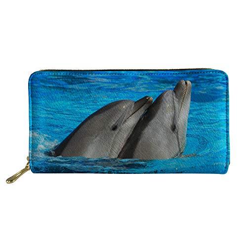 Showudesigns Taglia Portafogli Donna Dolphin Cat Unica rqAzq