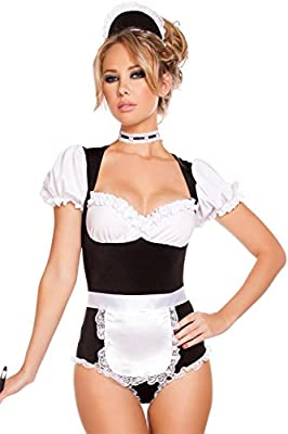 FIVEFOUR Women's Halloween Cosplay Foxy Cleaning Maid Costume