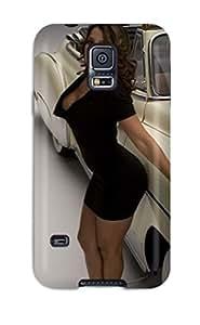 New Tpu Hard Case Premium Galaxy S5 Skin Case Cover(girl On Car)
